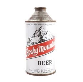 Rocky Mountain Beer Cone Top Can Anaconda
