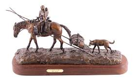 Bob Scriver New Camp Original Bronze Sculpture