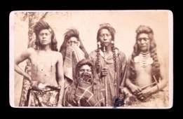 1870's Ute Indian Carte de Visite Salt Lake City