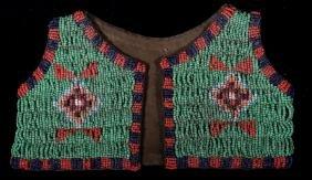 Black Feet Indians Beaded Child's Vest