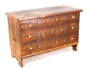 Early Hand Painted Romanian Chest