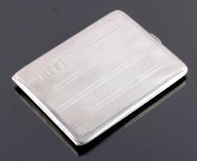 Watrous Sterling Silver Art Deco Cigarette Case