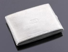 William Kerr Sterling Silver Cigarette Case