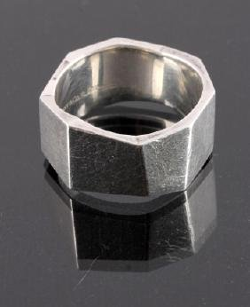 Tiffany Frank Gehry Sterling Silver Torque Ring