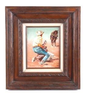 Original Phil Hayward Acrylic on Board Painting