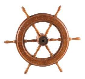 Antique Authentic Wooden Ship's Wheel