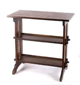 Roycroft Arts & Crafts Era Oak Bookshelf