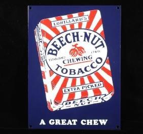 Beech-Nut Porcelain Enamel Advertising Sign
