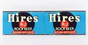 Original Hires Root Beer Tin Signs Lithograph 1940