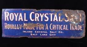 Royal Crystal Salt Metal Advertisement Sign