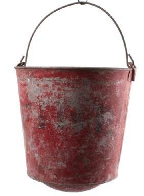 Early Montana Painted Fire Bucket