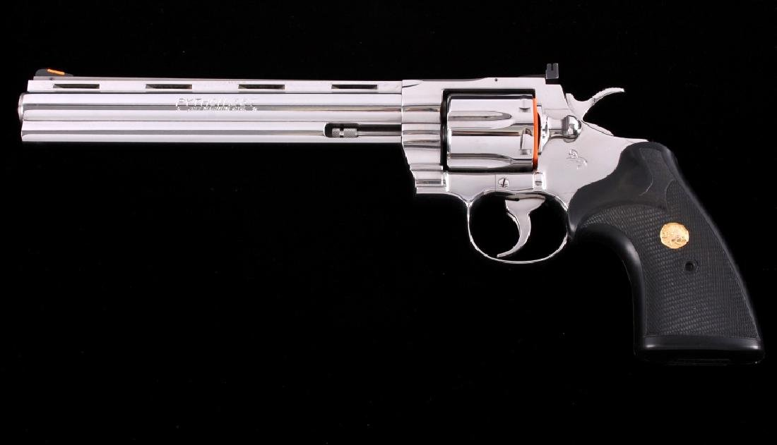 """Colt Python Bright Stainless 8"""" Revolver with Box"""