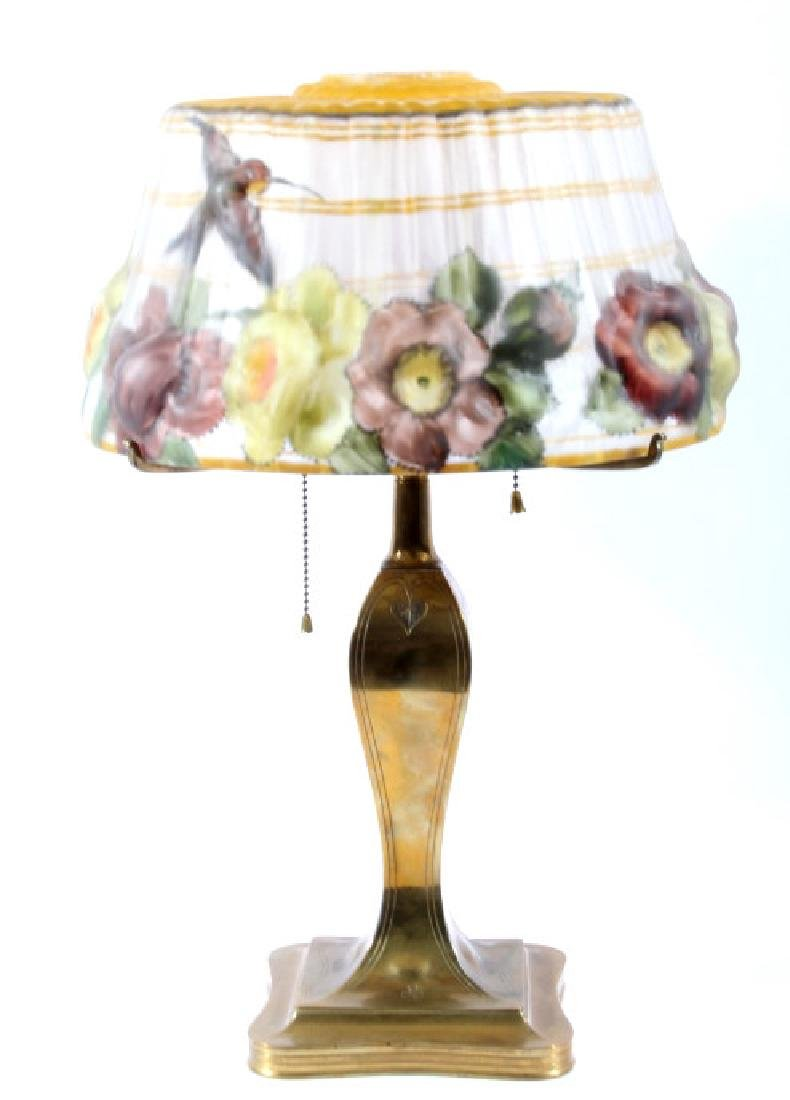 Pairpoint Puffy Signed Reverse Painted Lamp