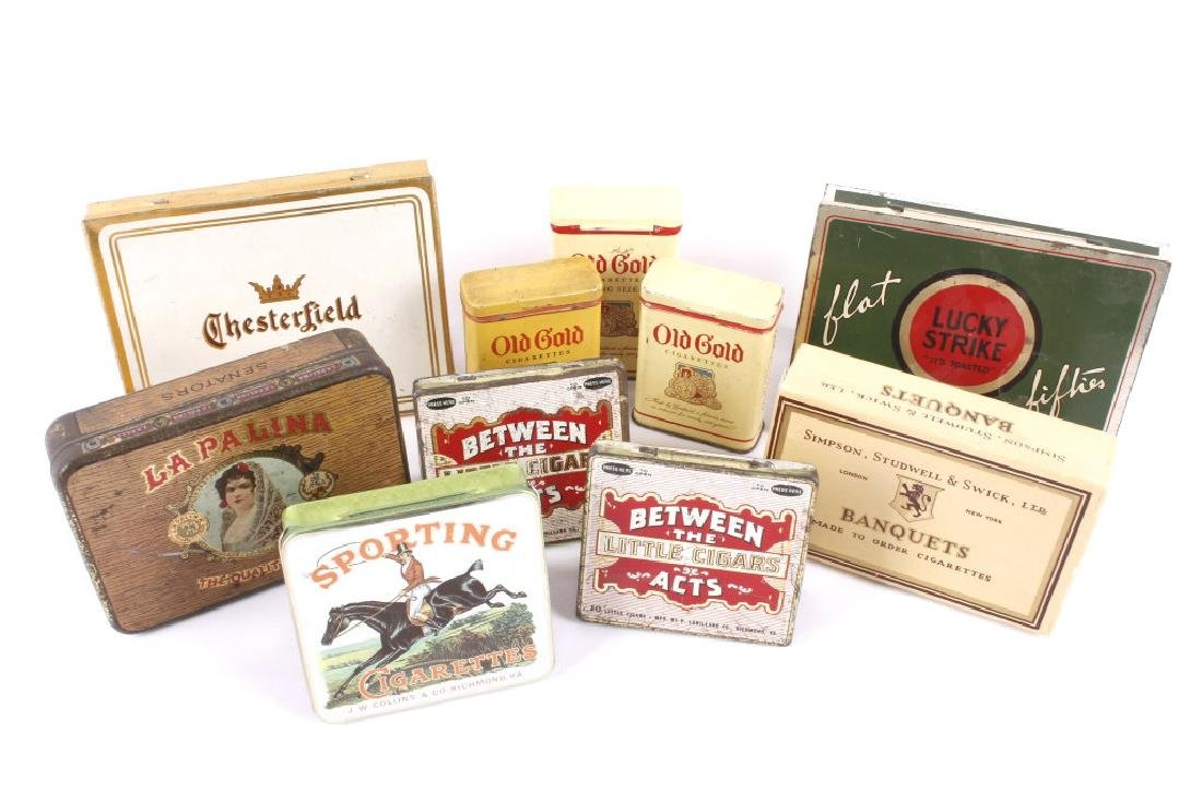 Early Cigarette & Cigar Tins & Boxes