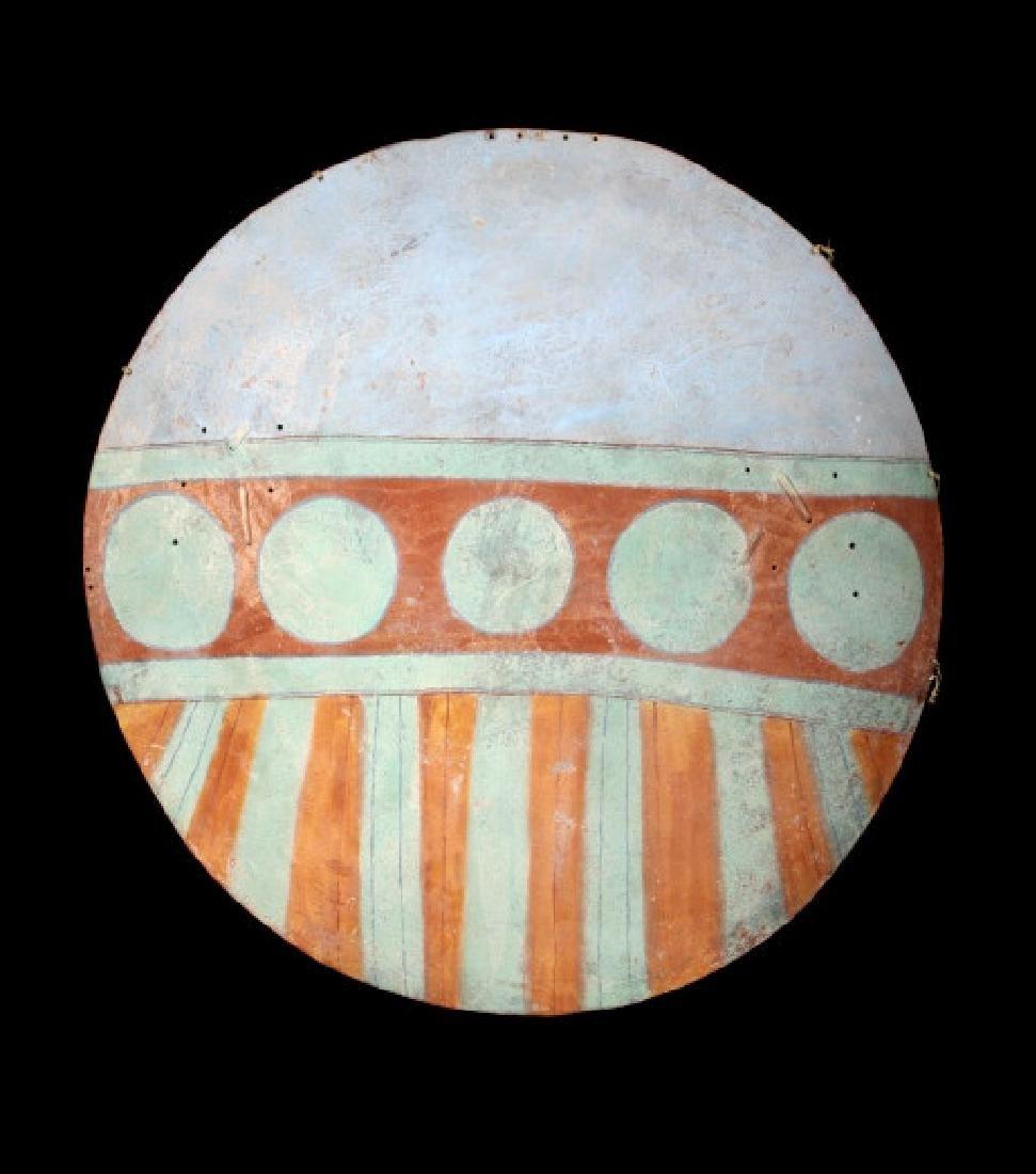 Santa Domingo Pueblo Painted War Shield circa 1870