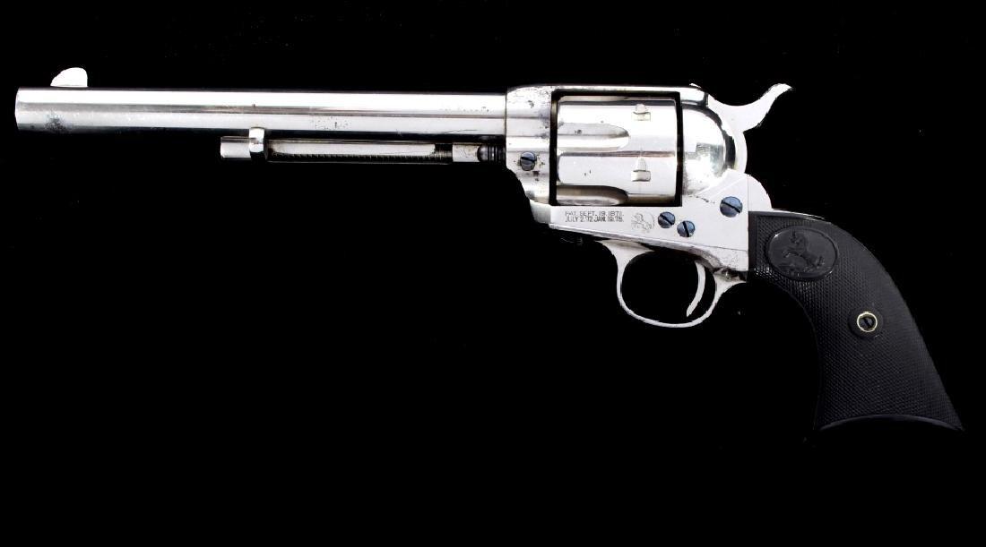 Colt Single Action Army Nickel Revolver 38-40 RARE