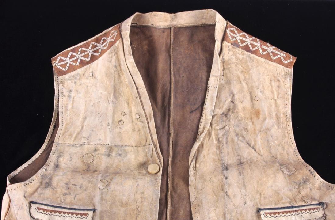 Eskimo Tanned Hide Vest 19th Century - 2