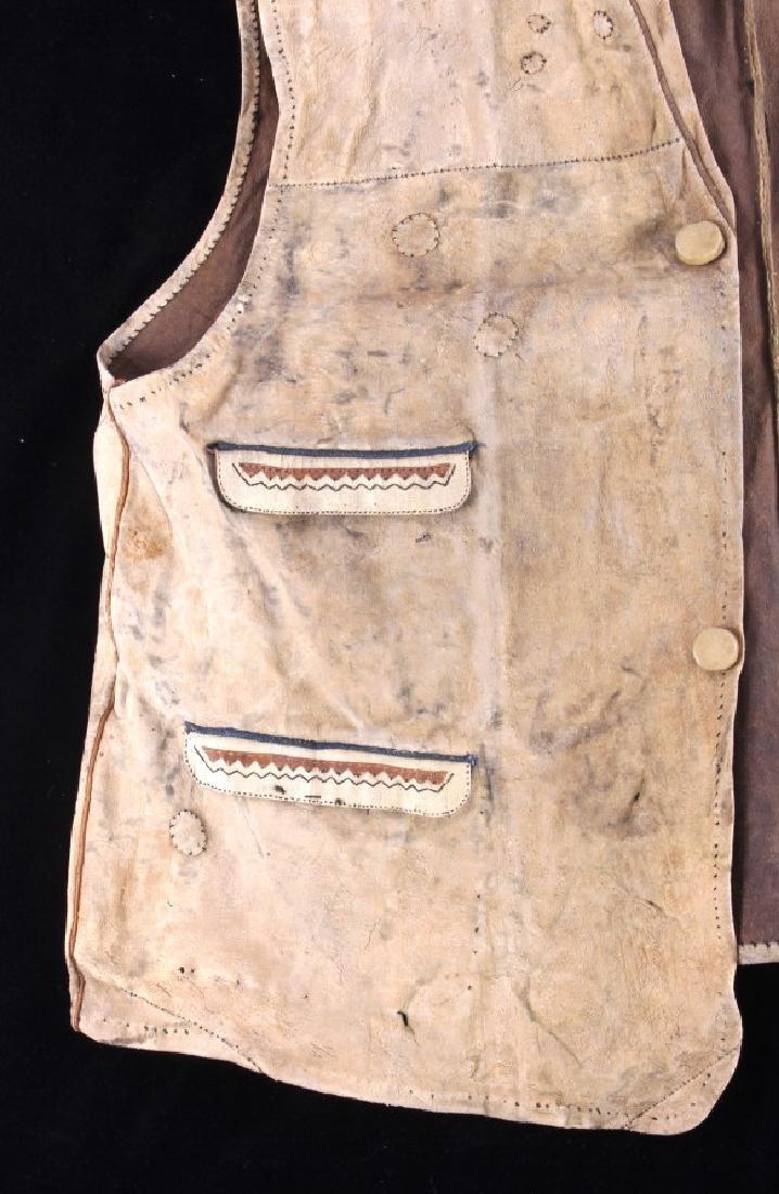 Eskimo Tanned Hide Vest 19th Century - 3