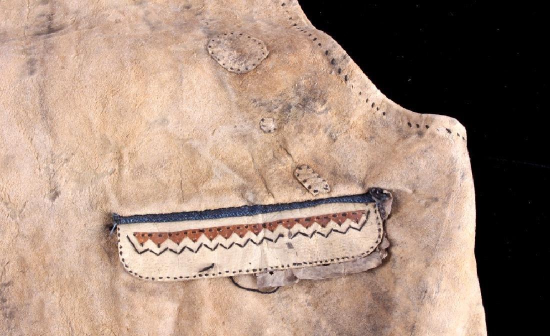 Eskimo Tanned Hide Vest 19th Century - 5