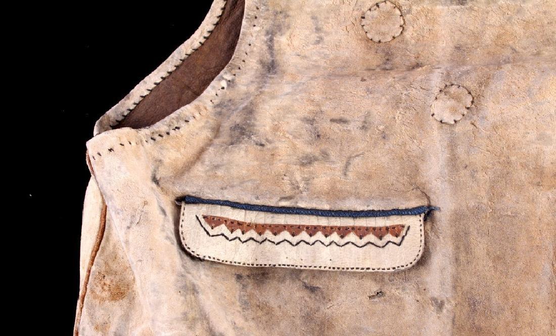 Eskimo Tanned Hide Vest 19th Century - 6