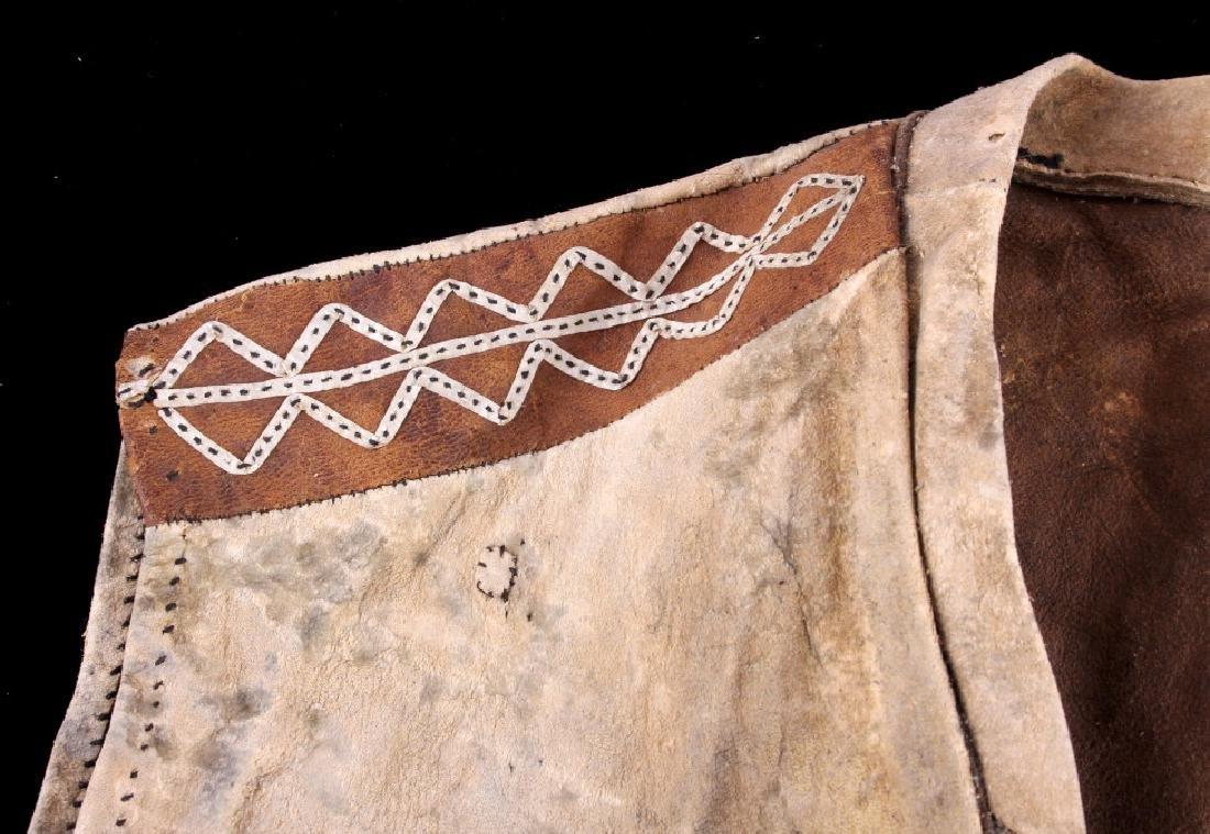 Eskimo Tanned Hide Vest 19th Century - 7