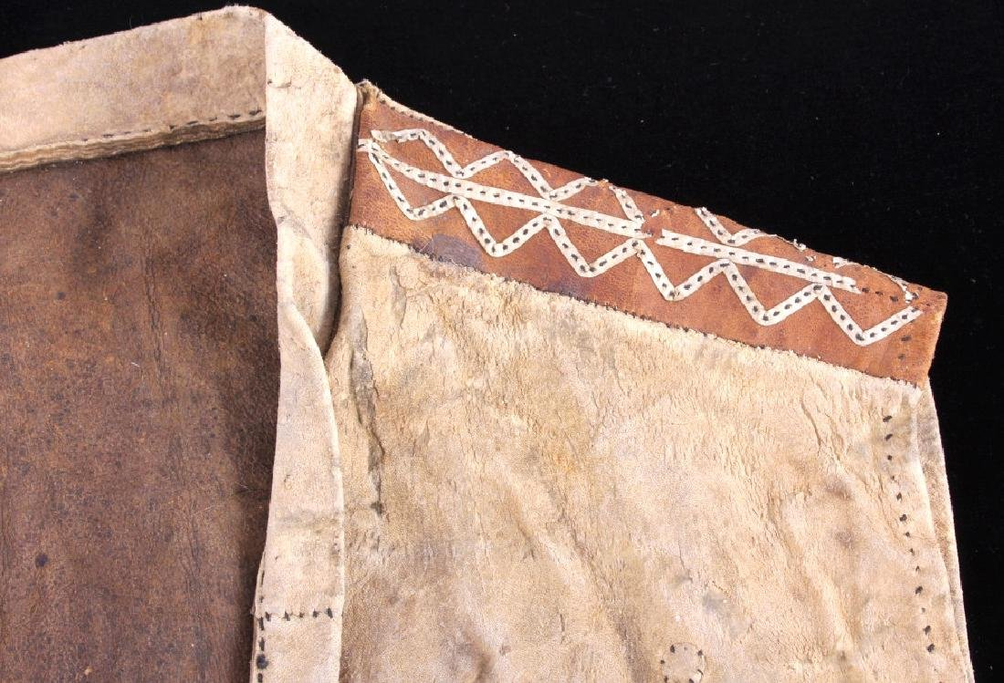 Eskimo Tanned Hide Vest 19th Century - 8