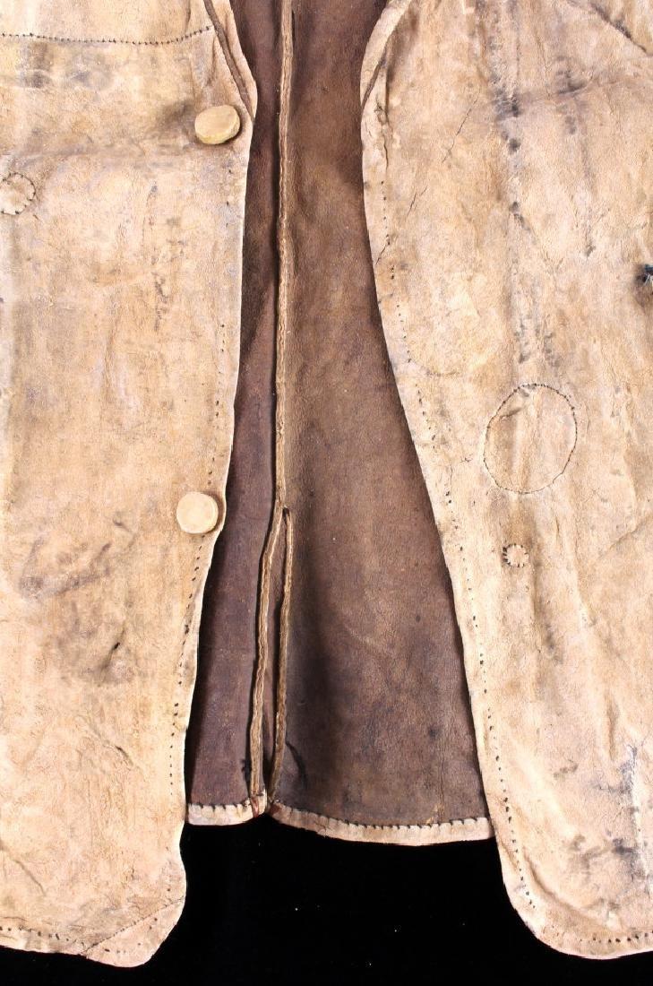 Eskimo Tanned Hide Vest 19th Century - 9