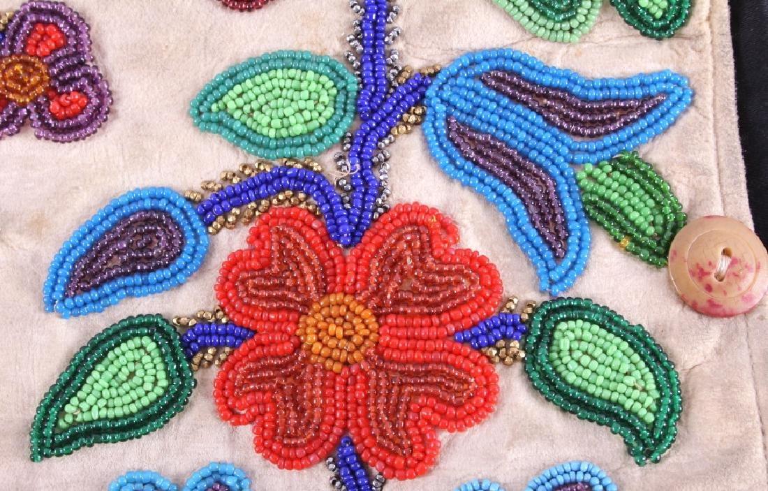 Cree Floral Beaded Vest circa 1900-1940 - 11