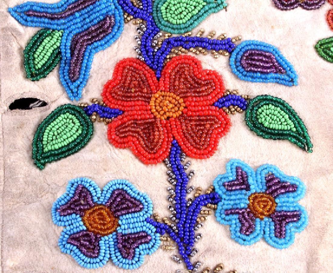 Cree Floral Beaded Vest circa 1900-1940 - 12