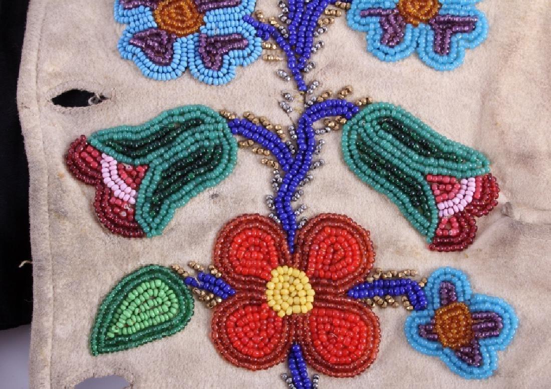 Cree Floral Beaded Vest circa 1900-1940 - 13