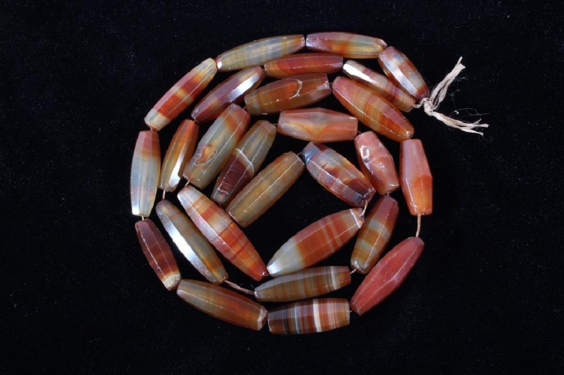 Rare Carnelian Agate Gemstone Necklace