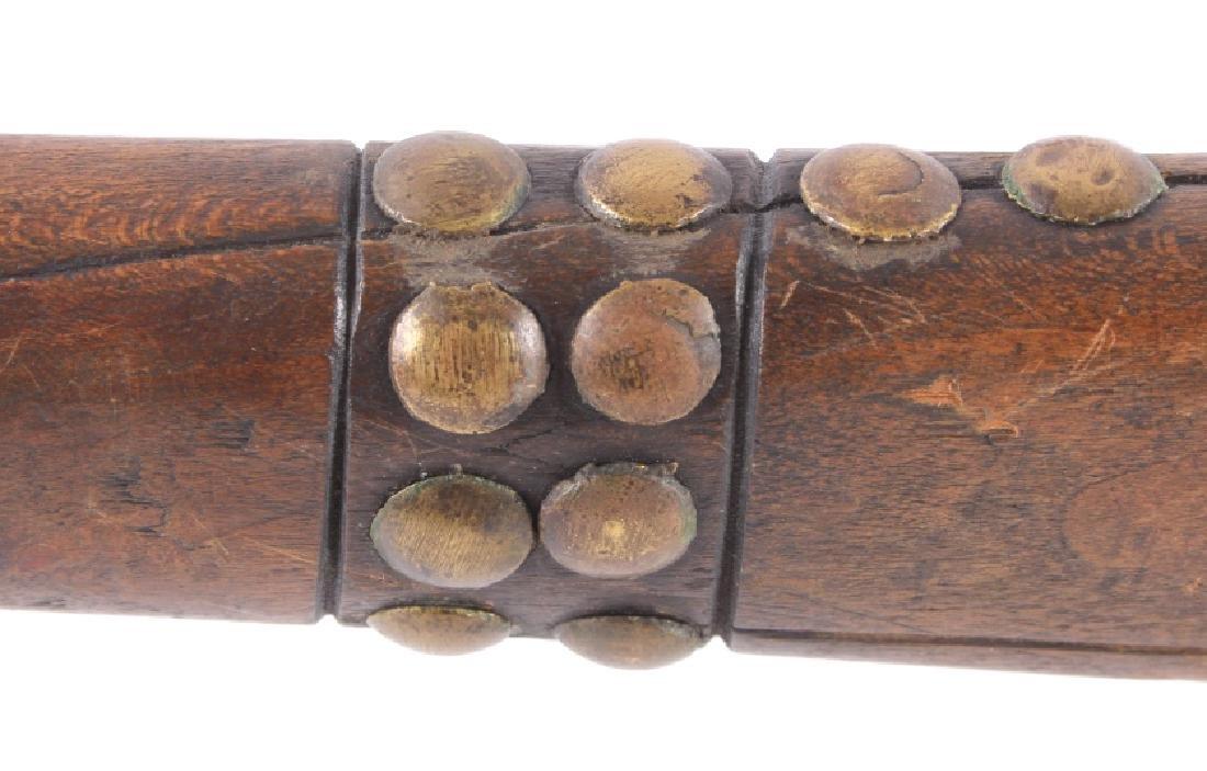 Sioux Knife Blade Gunstock War Club c. 1870-1880 - 8