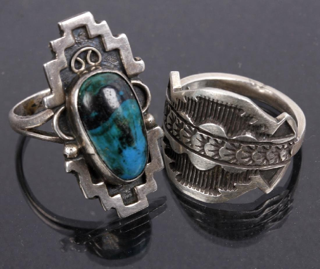 Navajo Emerson Sterling & JLL Sterling Ring