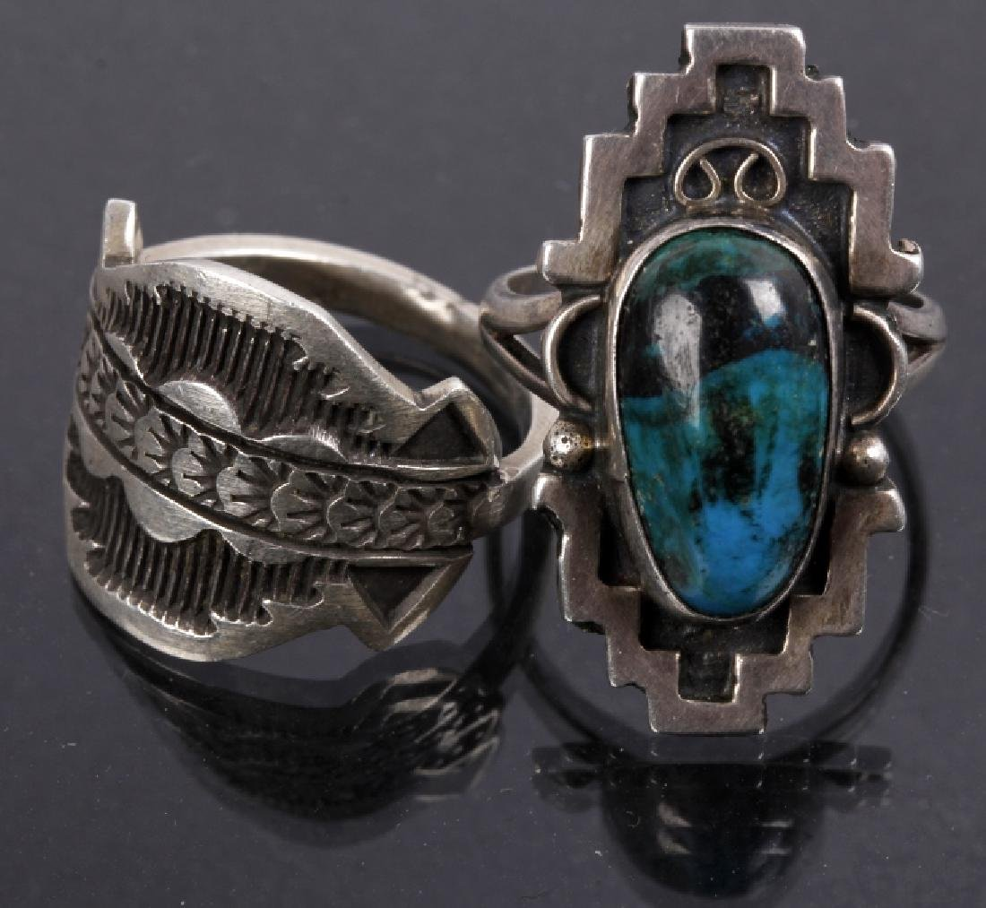 Navajo Emerson Sterling & JLL Sterling Ring - 2