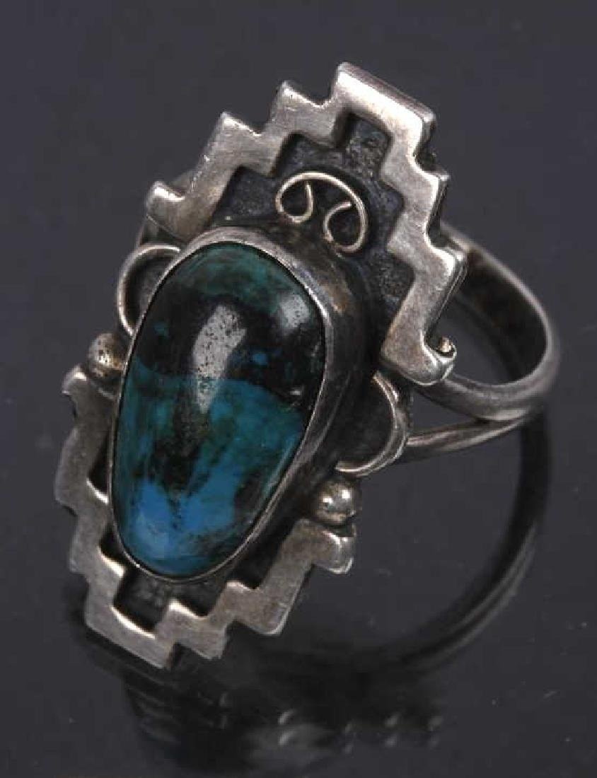 Navajo Emerson Sterling & JLL Sterling Ring - 3