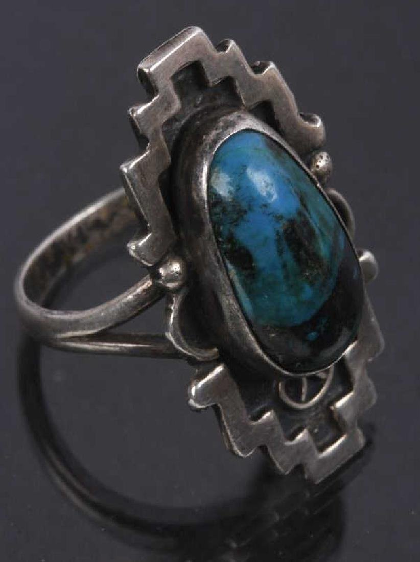 Navajo Emerson Sterling & JLL Sterling Ring - 4