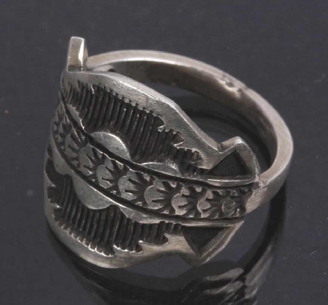Navajo Emerson Sterling & JLL Sterling Ring - 6
