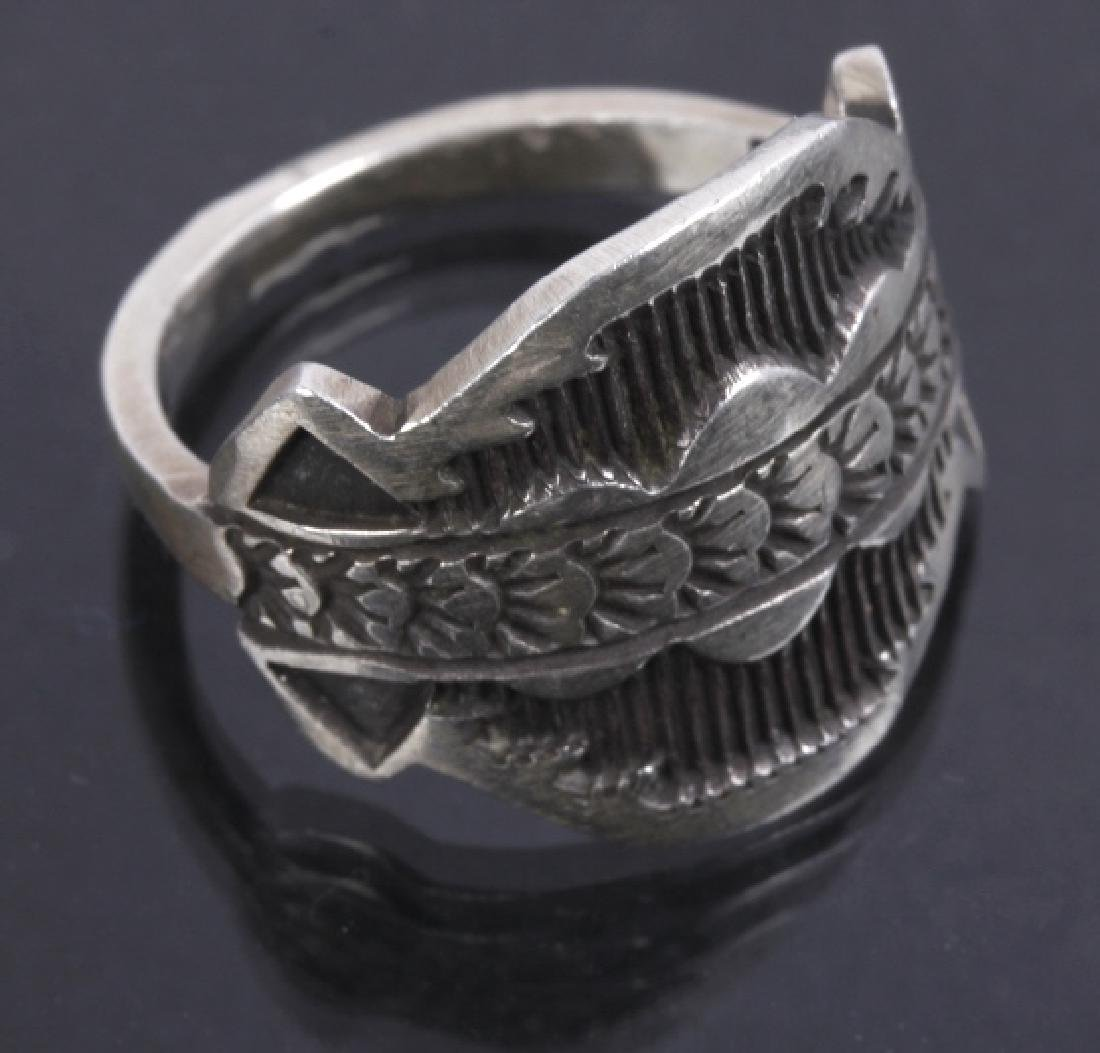 Navajo Emerson Sterling & JLL Sterling Ring - 7