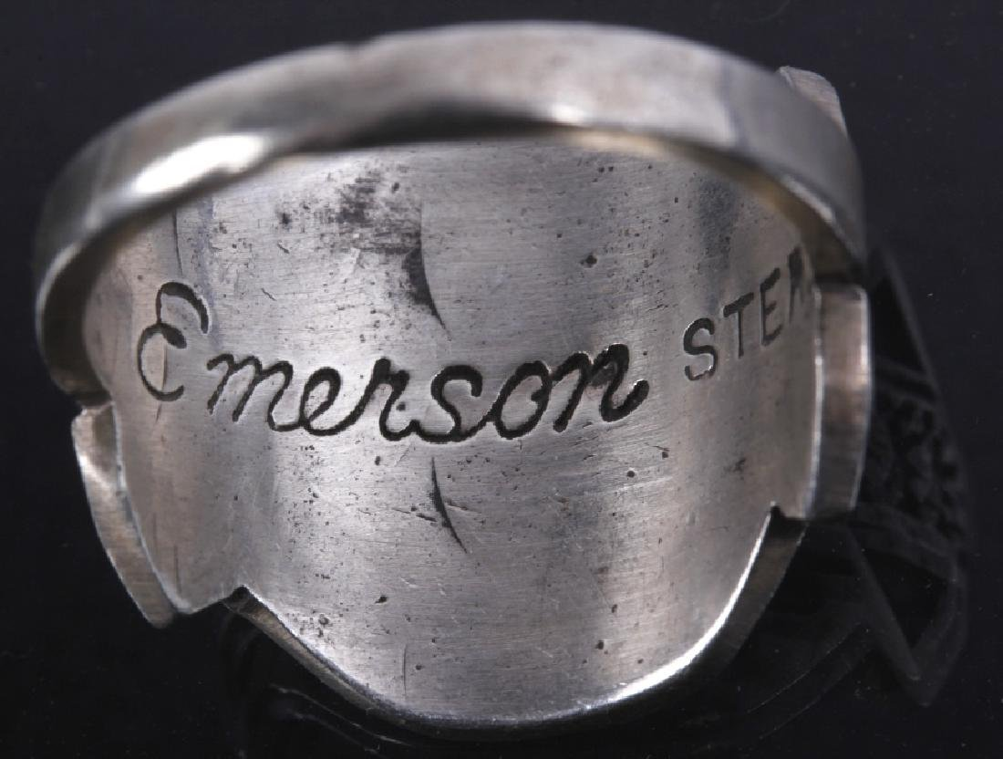 Navajo Emerson Sterling & JLL Sterling Ring - 8
