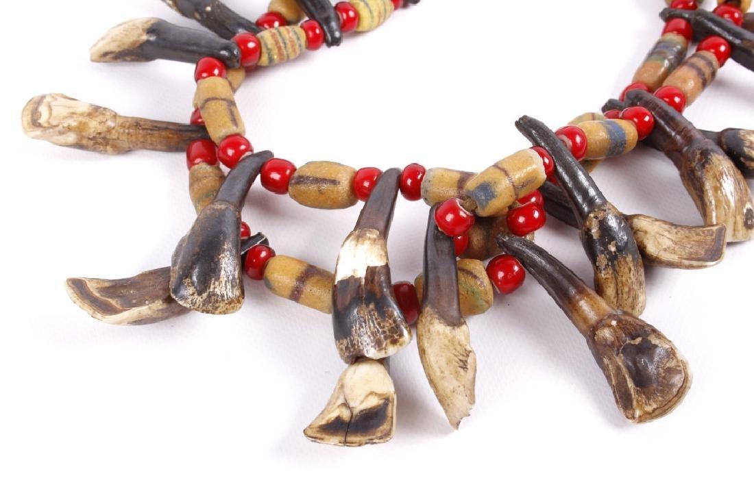 Northern Plain Buffalo Teeth & Trade Bead Necklace - 3