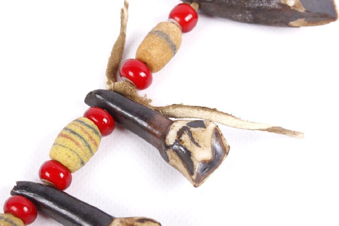 Northern Plain Buffalo Teeth & Trade Bead Necklace - 6