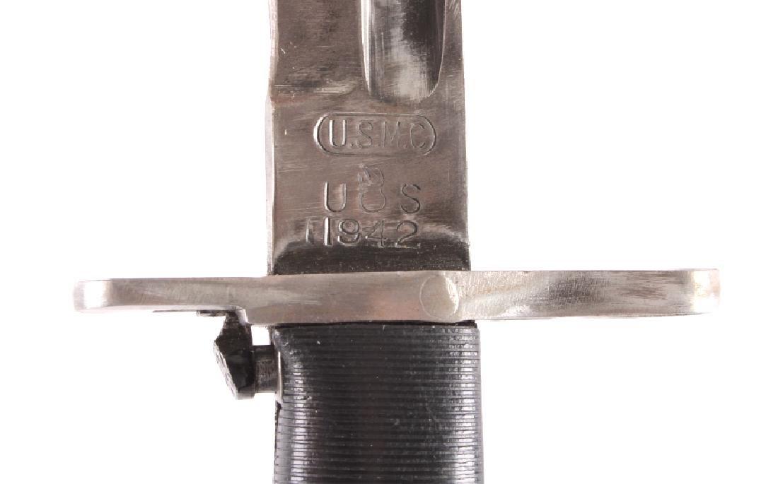 U.S. Marine Corps M1905 1942 M1 Garand Bayonet - 5