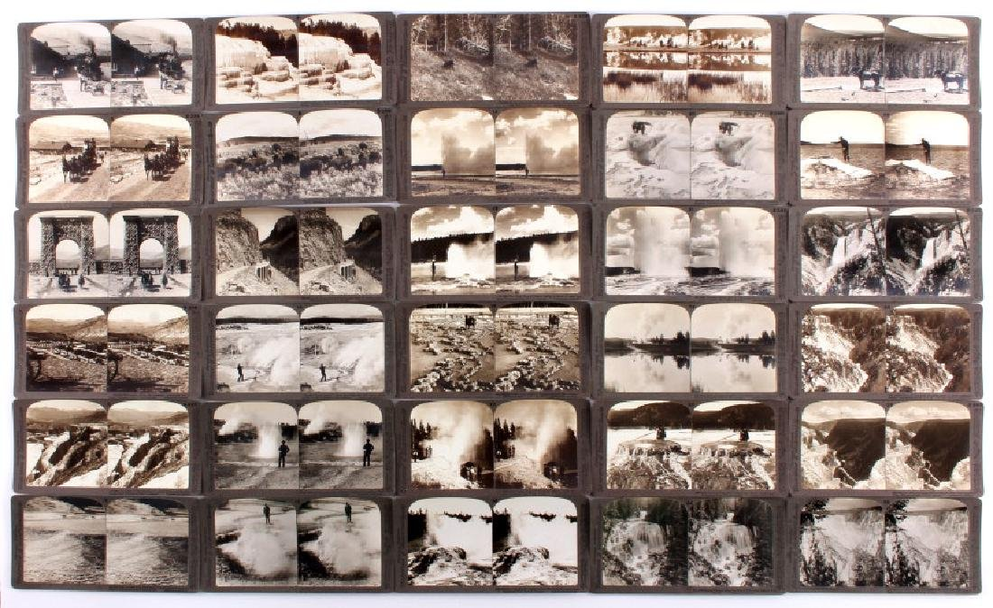 Complete Set of 1909 Yellowstone Park Stereoviews - 2