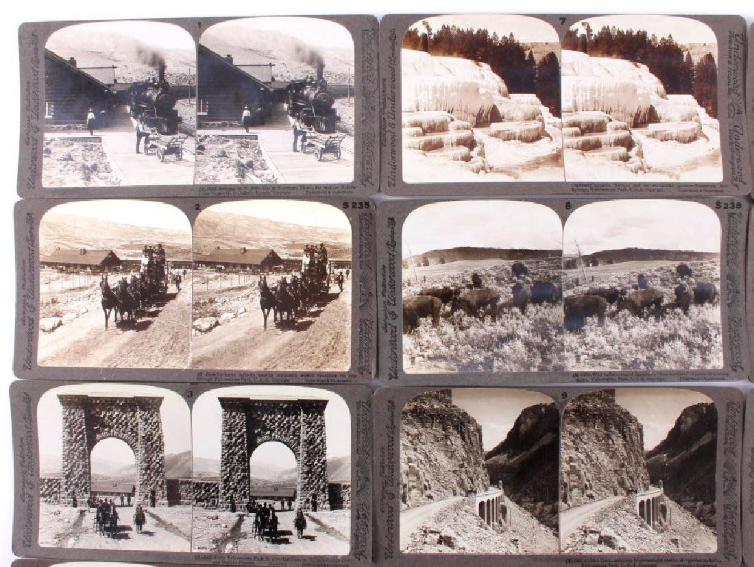 Complete Set of 1909 Yellowstone Park Stereoviews - 3