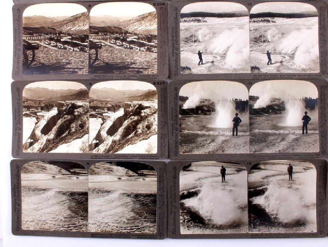 Complete Set of 1909 Yellowstone Park Stereoviews - 4