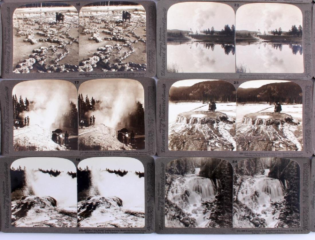 Complete Set of 1909 Yellowstone Park Stereoviews - 6