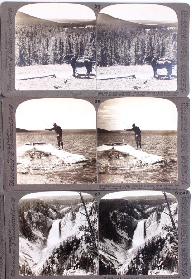 Complete Set of 1909 Yellowstone Park Stereoviews - 7