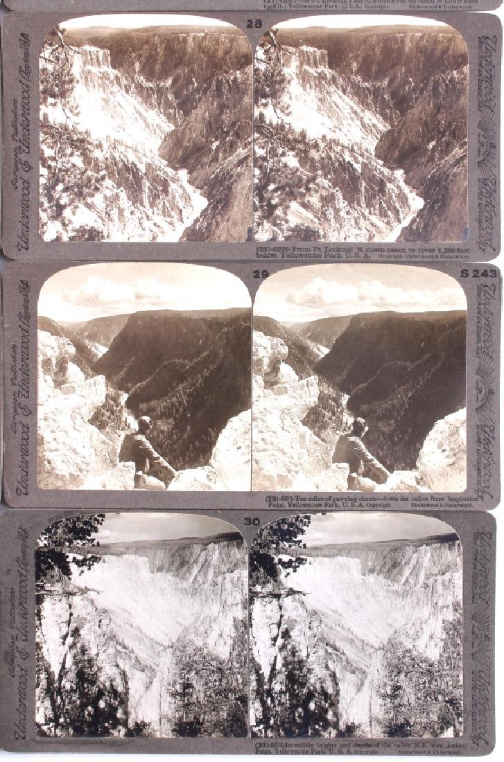 Complete Set of 1909 Yellowstone Park Stereoviews - 8