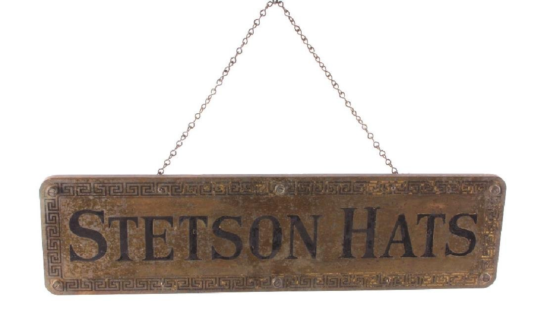 Original Stetson Hats Advertising Sign Circa 1900