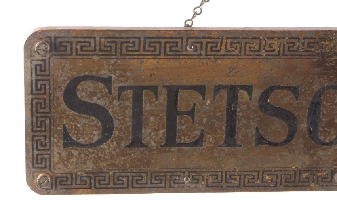 Original Stetson Hats Advertising Sign Circa 1900 - 2